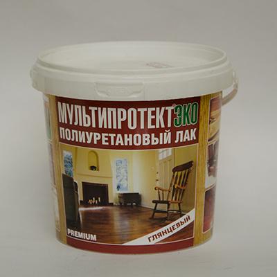 Полиуретановый лак МультиПротект-ЭКО (глянцевый) 1л.