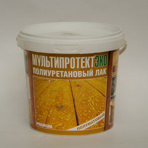 Полиуретановый лак МультиПротект-ЭКО (полуматовый) 1л.