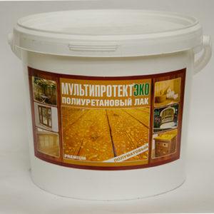 Полиуретановый лак МультиПротект-ЭКО (полуматовый) 5л.